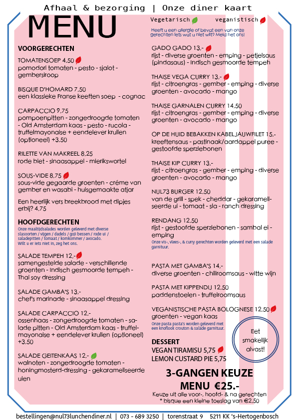 Diner bestelling